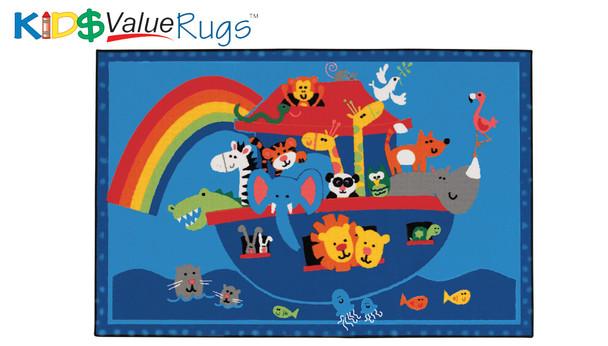 Carpets for Kids 48.74 Noahs Animals Rug 4' x 6'