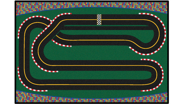Carpets for Kids 48.45 Super Speedway Racetrack Rug 4' x 6'