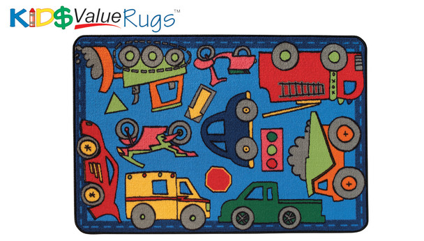 Carpets for Kids 48.62 Wheels On The Go Rug 4' x 6'