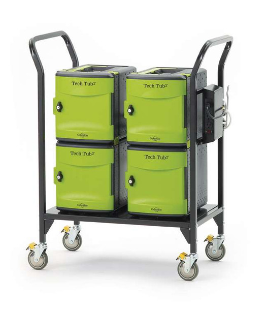 Copernicus FTT724 Tech Tub2 Cart with 4 Premium Tech Tubs Holds Up To 24 Devices