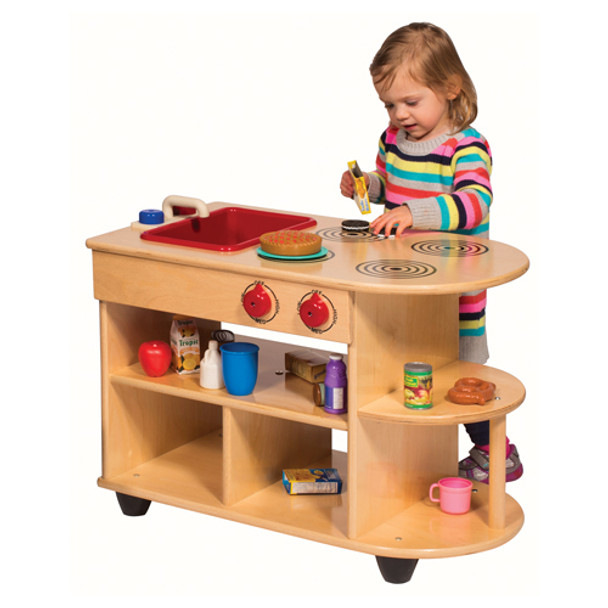 Steffy Wood ANG9092 Value Line Birch Toddler 2-in-1 Kitchen