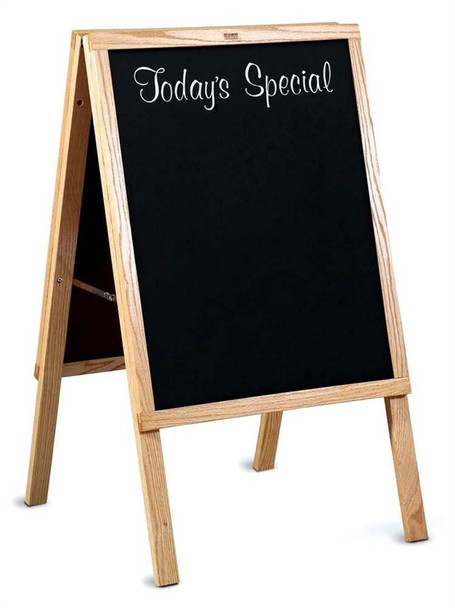 Marsh Industries ER272200 Today's Special Cafe Sidewalk Chalkboard Sign with Oak Wood Frame 22 W x 27 L