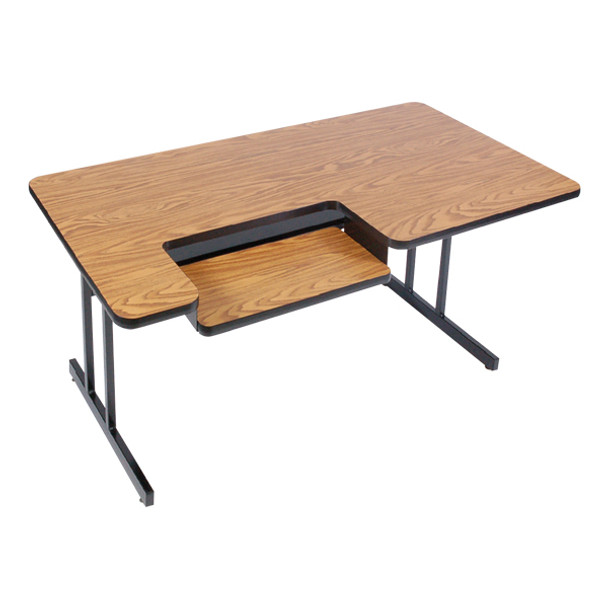 BL3072 Bi Level High Pressure Laminate Top Computer Table 30 W x 72 L Fixed Height
