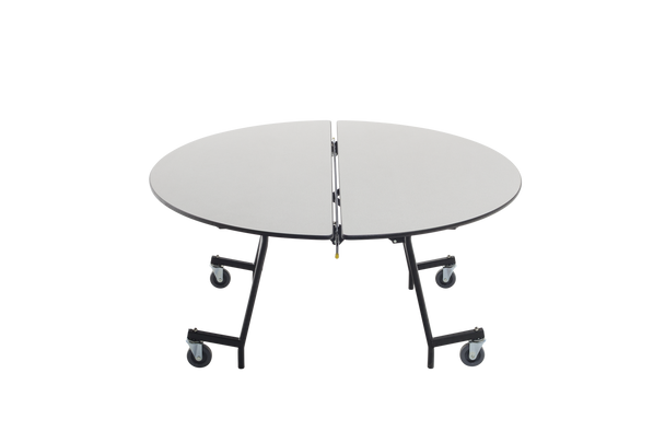 AmTab MOV72 Mobile Cafeteria Table Oval 60 W x 72 L