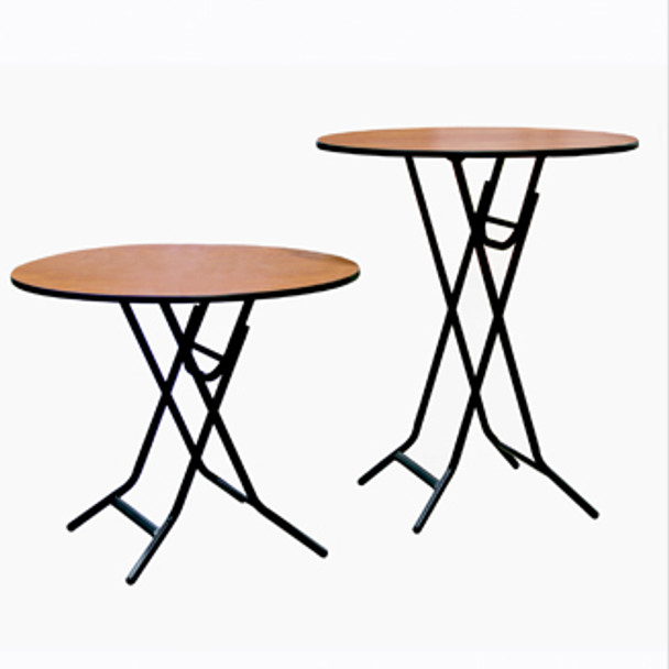 Midwest XFR3030E X-Fold Stained Top Table 30 Inch Round