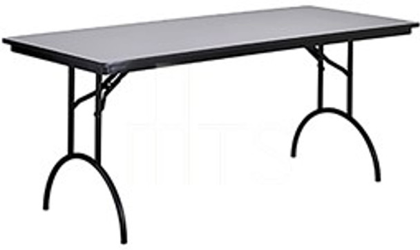 MTS Seating 415-3096-AL Continuity Arched Leg Rectangle Folding Table 30 x 96