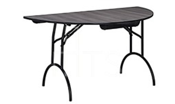 MTS Seating 415-60HR-AL Continuity Arched Leg Half Round Folding Table 30 x 60