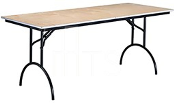MTS Seating 425-3060-AL Continuity Arched Leg Rectangle Folding Table With Plywood Top 30 x 60