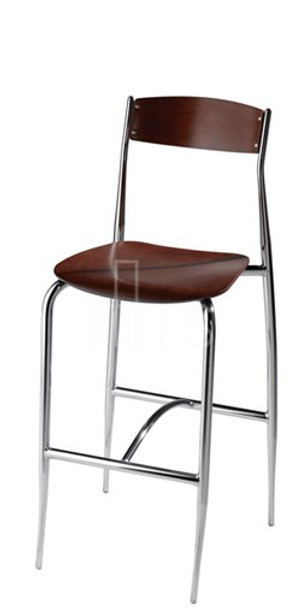 MTS Seating 189-30 Toledo Dining Bar Stool Wooden Seat and Back 30 Inch Seat Height