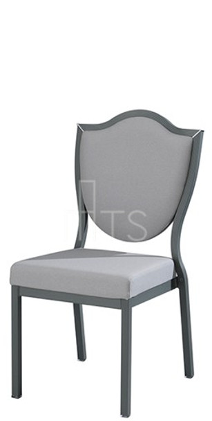 MTS Seating 95/1 Salon Nesting Dining Side Chair With Traditional Shield Back 18 Inch Seat Height