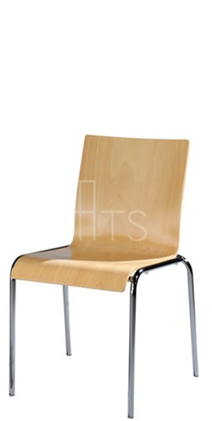 MTS Seating S10-SQ Moderne Stacking Dining Chair Wooden Seat and Back 18 Inch Seat Height