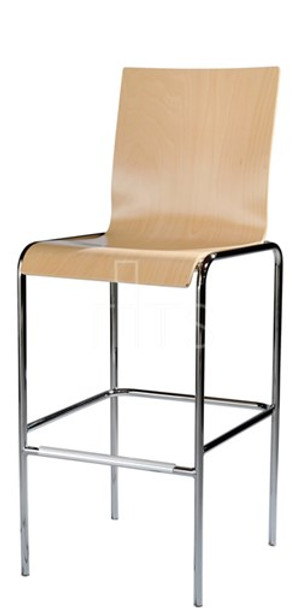 MTS Seating 10-30-SQ Moderne Dining Bar Stool Wooden Seat and Back 30 Inch Seat Height