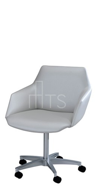 MTS 7523-C-B Paragami Swivel Caster Guest Chair 18 Inch Seat Height