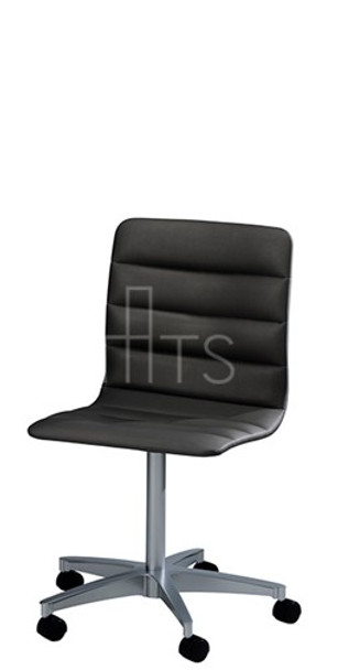 MTS Seating 7523-C-E-CHI Lehto Swivel Caster Guest Chair With Channels 18 Inch Seat Height