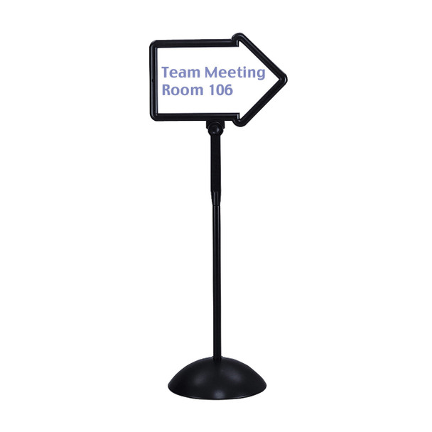 Safco 4173BL Write Way Dual Sided Magnetic Dry Erase Arrow Directional Sign