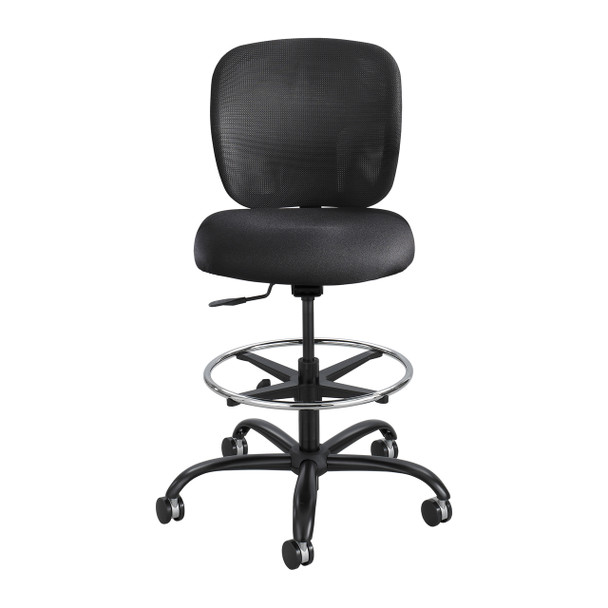 Safco 3394 Vue Mesh Back Heavy Duty Swivel Stool With Casters Adjustable Height
