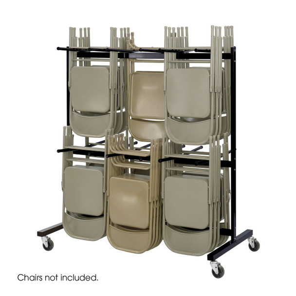 Safco 4199BL Two Tier Chair Dolly Holds 84 Folding Chairs