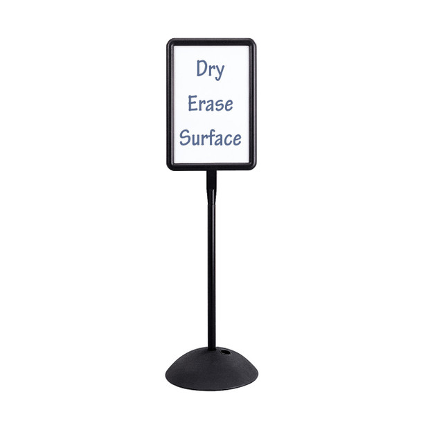 Safco 4117BL Write Way Dual Sided Magnetic Dry Erase Rectangle Directional Sign