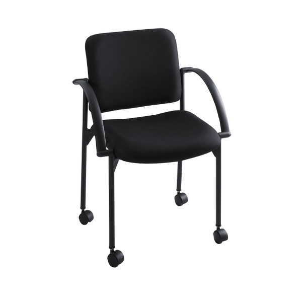 Safco 4184 Moto Mobile Stacking Arm Chair 18 Inch Seat Height Pack of Two