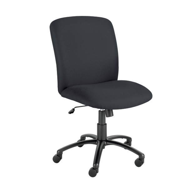 Safco 3490 Uber Big and Tall Armless High Back Task Chair Adjustable Height