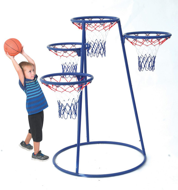 The Children's Factory AFB7950 4 Rings Basketball Stand with Storage Bag