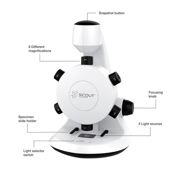 Hamilton Buhl SCT18 STEM Microscope with Six Magnification Lenses