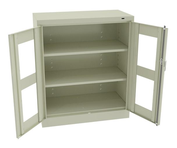 Tennsco CVD1442 Standard Counter High Cabinet with See Through Doors 36x18x42