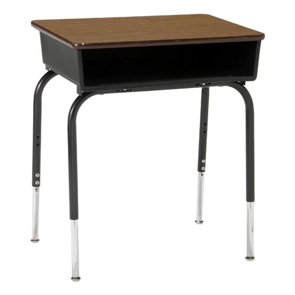 Scholar Craft SC2200FBBK Laminate Top 18 x 24 Adjustable Height Open Front Desk with Plastic Bookbox  https://www.todaysclassroom.com