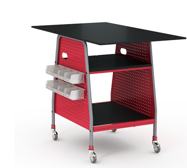 Paragon INVENT 463030-CR Fixed Height Maker Invent Tables with Chemical Resistant Top 30 D x 46 W