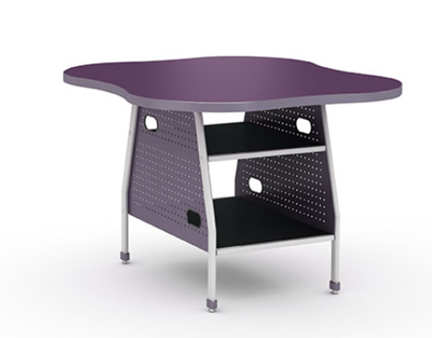 Paragon INVENT-CLOVER40-CR Fixed Height Maker Invent Tables with Chemical Resistant Top 39 D x 40 W