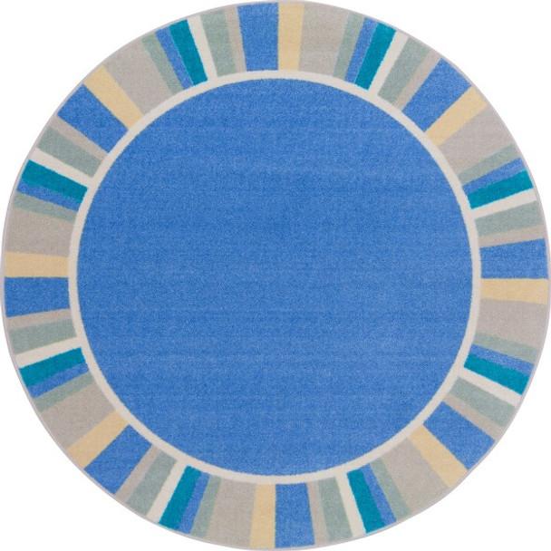 "Joy Carpets 2024-H Off The Cuff Rug Round 5' 4"" Diameter Light Blue"