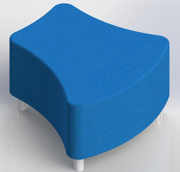 Scholar Craft 112X Access Series Vertebrae Ottoman Soft Seating 30 W x 30 L x 18 H