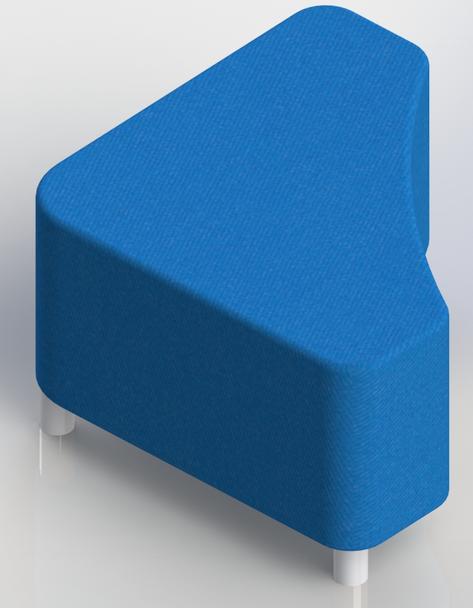 Scholar Craft 116x Access Series Triangle Ottoman Soft Seating 28 W x 28 L x 18