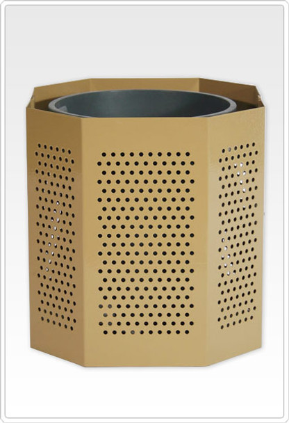 SportsPlay 601-708 Perforated Steel 32 Gallon Trash Can