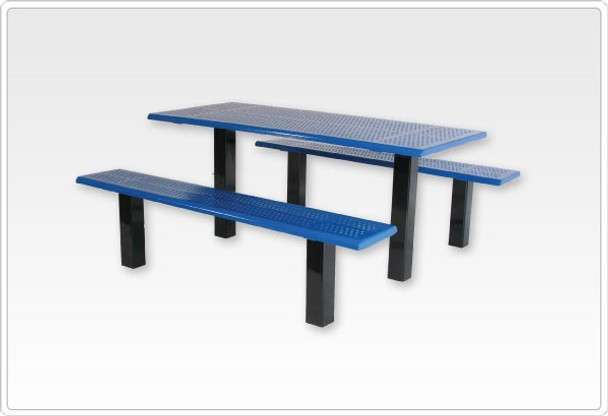 """SportsPlay 601-657 Straight 6 Foot Picnic Table with 4"""" Square Tubing"""