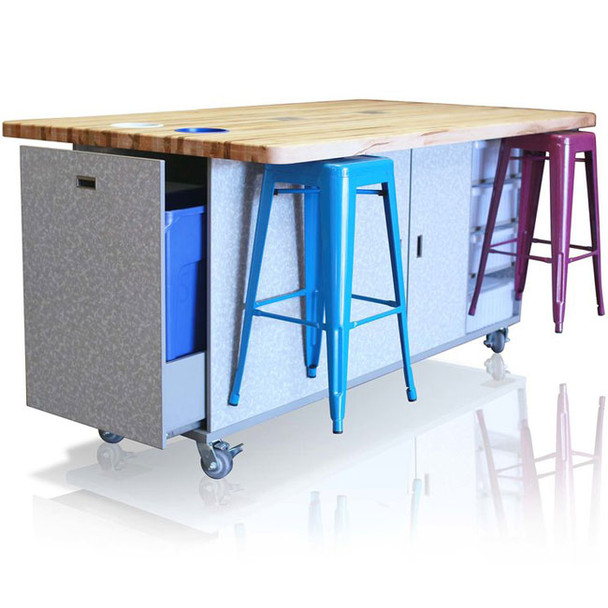 CEF ED-36 All Inclusive Original Ed Table 36 inch Height with Six Magnetic Stools