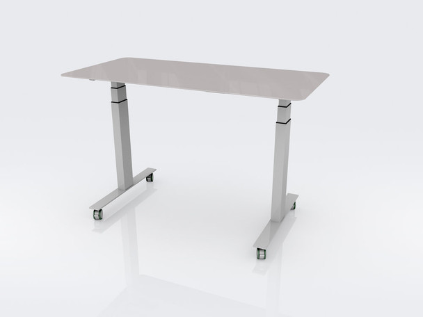 CEF WG72 Sit to Stand Writable Glass Table 36 W x 72 L