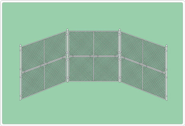 SportsPlay 551-410 Baseball Backstop Prefabricated Panels with Two 45 inch Wings
