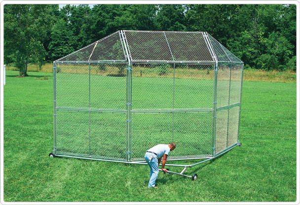 SportsPlay 551-411 Baseball Backstop Prefabricated Panels with 5 Foot Hood and 2 45 Inch Wings