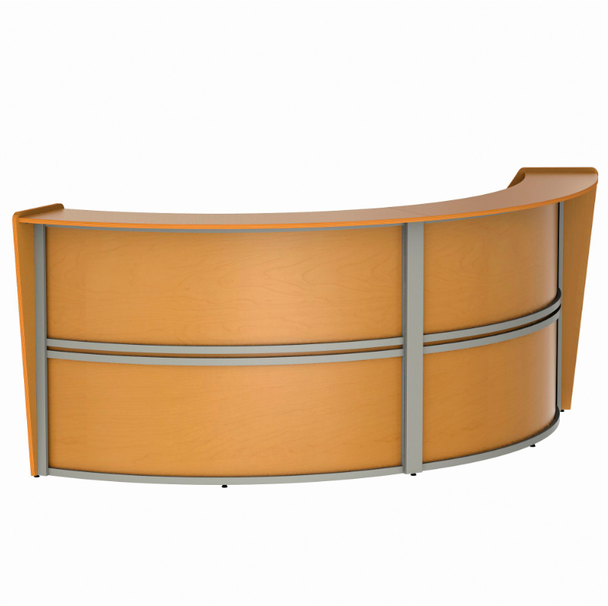 Linea Italia ZU296 2 Unit Curved Reception Desk 124 W x 49 L