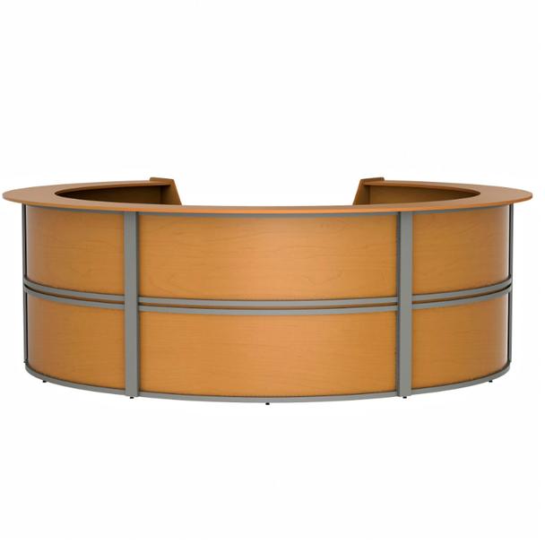 Linea Italia ZU299 5 Unit Curved Reception Desk 143 W x 133 L