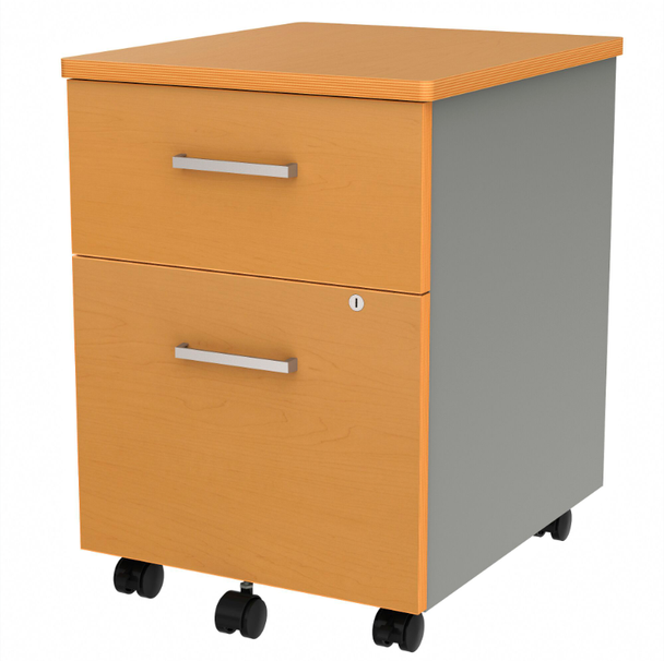 Linea Italia ZU106 2 Drawer Mobile Pedestal 17 W x 20 L
