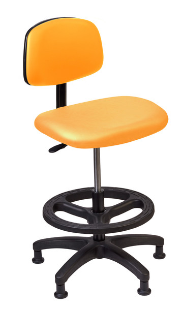 Diversified SE-T2M Standing Tech Chair 21 to 28 inch Adjustable Height Orange