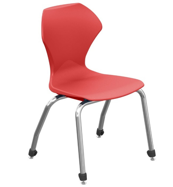 "Red Apex Series Stacking Chair 14"" Seat Height"