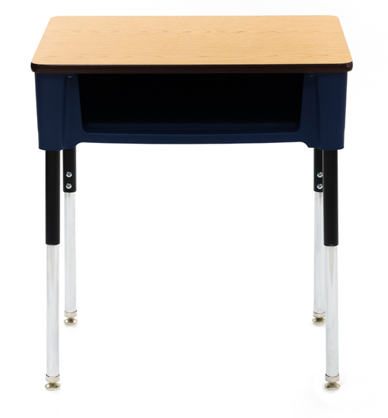 Scholar Craft SC3200PCFB Ovation Adjustable Height Open Front Student Desk with Laminate Top 18 W x 24 L