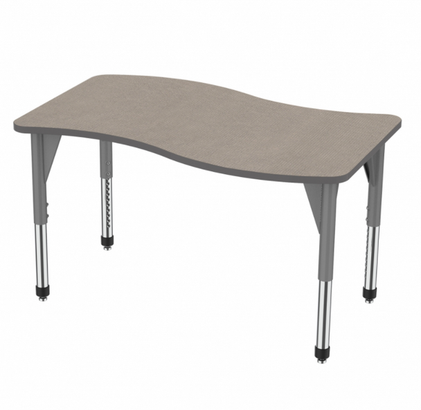 "Marco Group Inc 43-2258-A Adjustable Height Premier Series Wave Stand Up Table 54""W x 30""L"