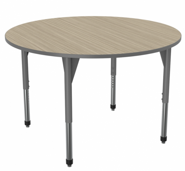 """Marco Group Inc 43-2266-A Adjustable Height Premier Series Round Stand Up Table 48""""W x 48""""L"""