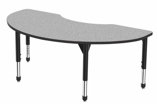 """Marco Group Inc 43-2268-A Adjustable Height Premier Series Kidney Stand Up Table 72""""W x 48""""L"""