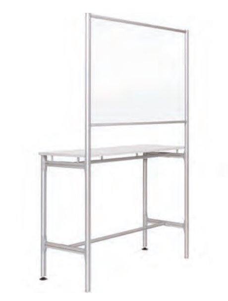 MasterVision SUP3603 Protector Series Glass Workstation 48 W x 19 L x 75 H