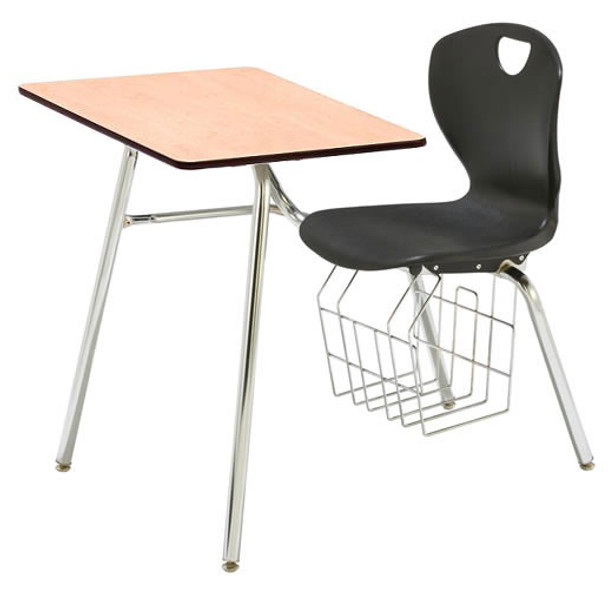 Scholar Craft SC3618SPCOBR Ovation Combo Desk with Solid Plastic Top 18 inch Seat Height